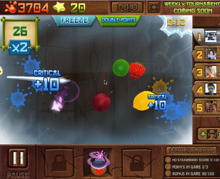 fruit ninja frenzy on facebook