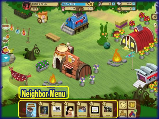 Gnome Town Neighbor Menu
