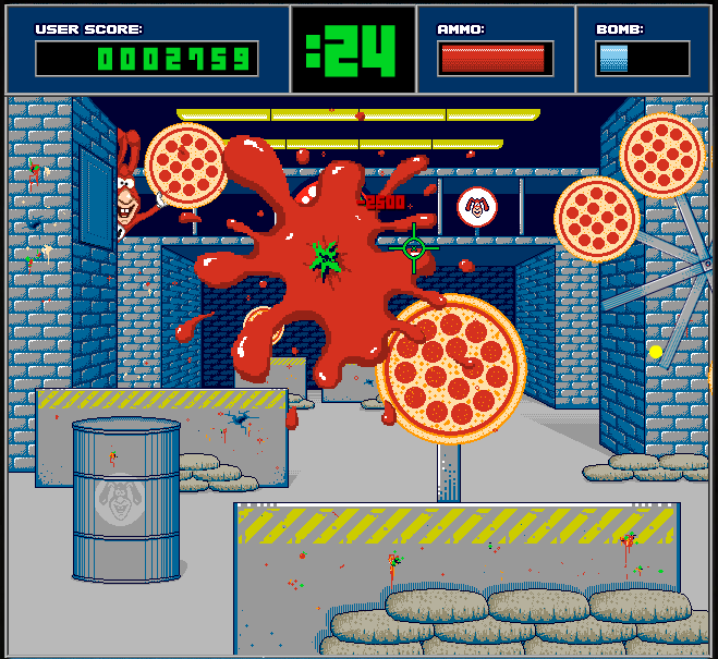 Domino's Noid Facebook game
