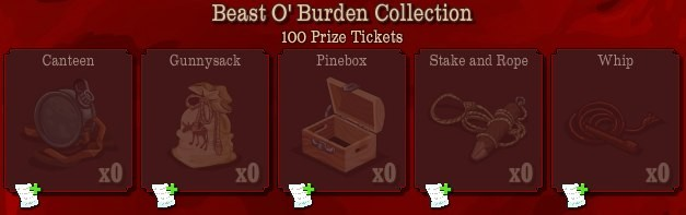 pioneer trail beast o burden collection Pioneer Trail Collections Guide: Earn free Prize Tickets, Tools and much more