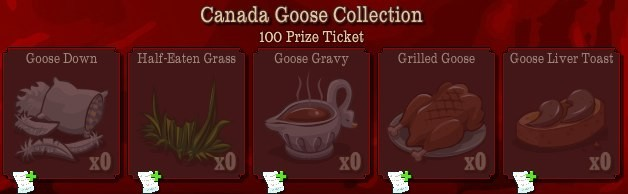 pioneer trail canada goose collection Pioneer Trail Collections Guide: Earn free Prize Tickets, Tools and much more