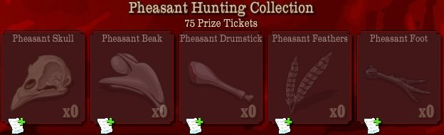 pioneer trail pheasant hunting collection Pioneer Trail Collections Guide: Earn free Prize Tickets, Tools and much more