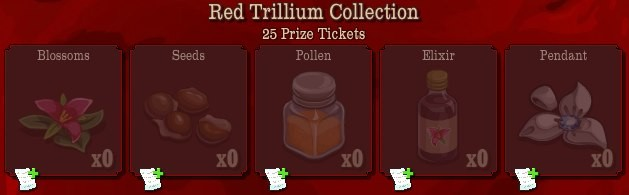 pioneer trail red trillium collection Pioneer Trail Collections Guide: Earn free Prize Tickets, Tools and much more