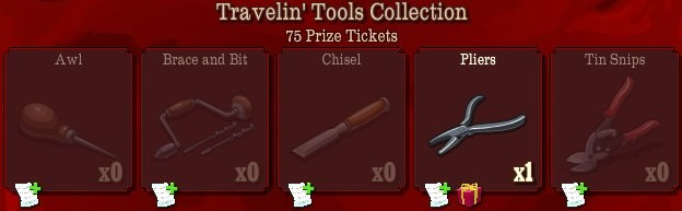 pioneer trail travelin tools collection Pioneer Trail Collections Guide: Earn free Prize Tickets, Tools and much more