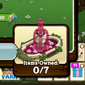 Buy seven FarmVille Vineyard items, get a Flowery Fountain for 'free'