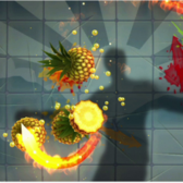 Hone your karate chop in Fruit Ninja Kinect before it slices Facebook