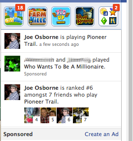 Facebook Game News Ticker