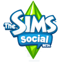 The Sims Social beta new logo