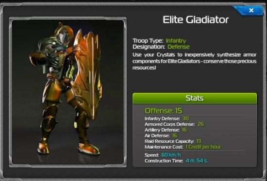 Total Domination Elite Gladiator stats