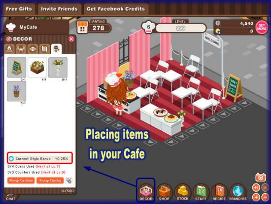 World Chef placing items in your cafe