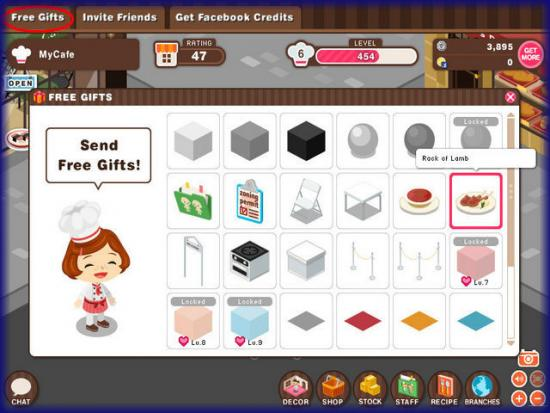World Chef free gifts page