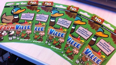 Zynga Game Cards