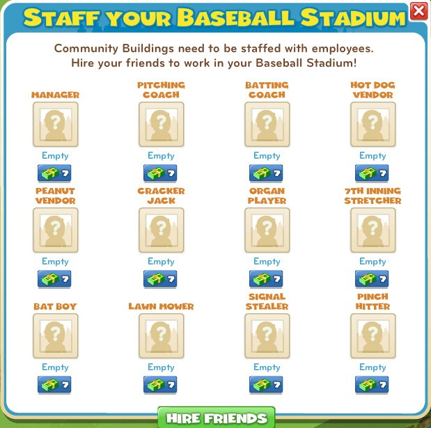 Staff your Baseball Stadium