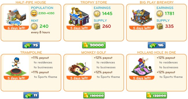 cityville on facebook 4 CityVille: Take to the field with new Sports themed items