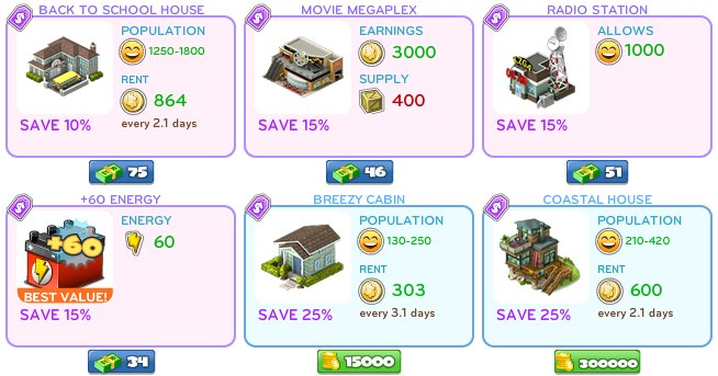 cityville sale CityVille: Save up to 50% on tons of items in Labor Day sale