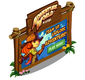 Adventure World billboard FarmVille