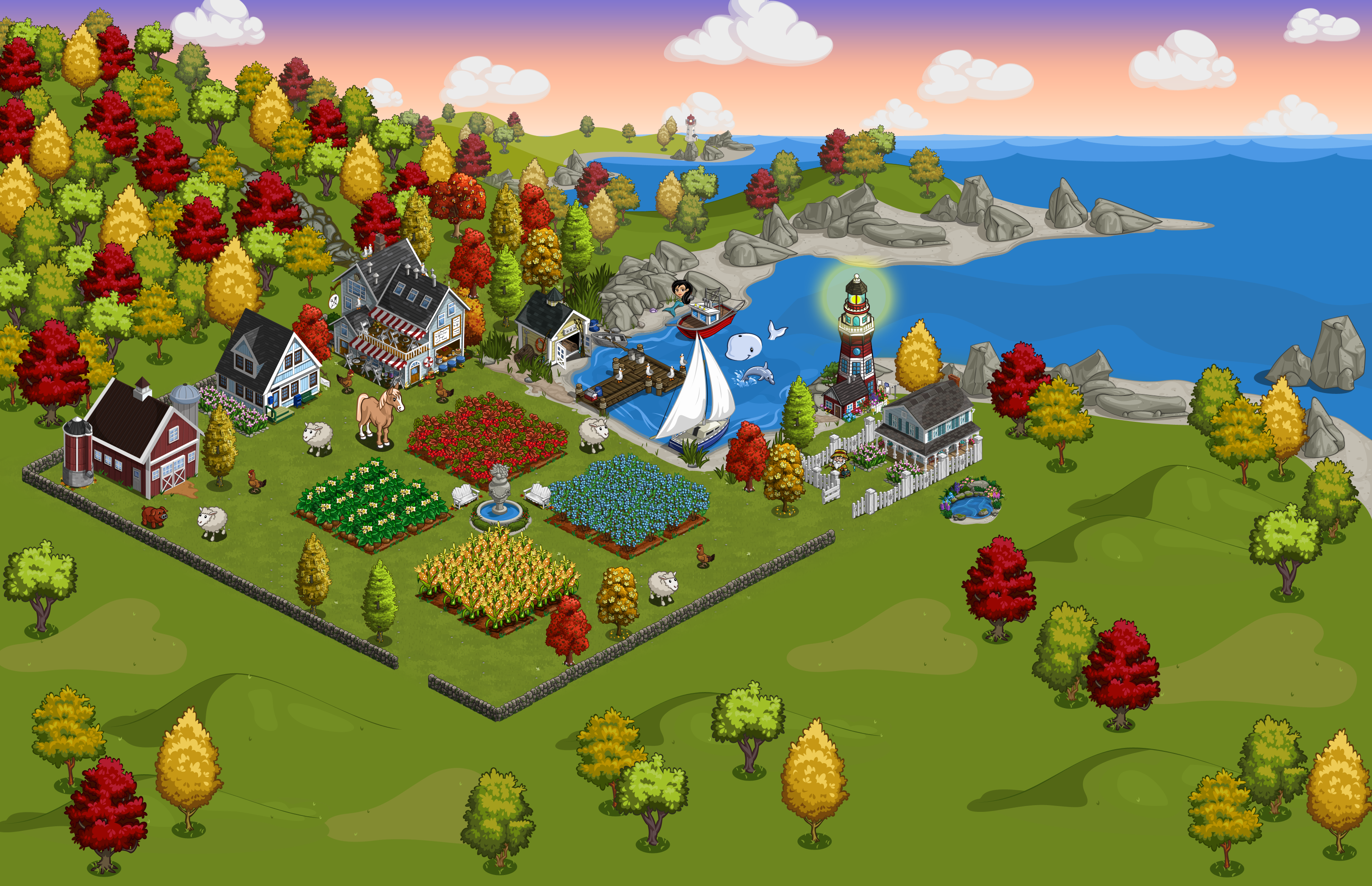 FarmVille Lighthouse Cove screen