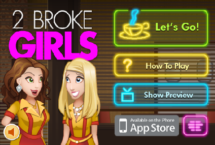 2 Broke Girls menu