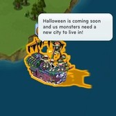 CityVille: Halloween Monster Ship shows up in city waters