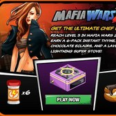 Cafe World: Reach Level 5 in Mafia Wars 2 for a Lavender Lightning Stove