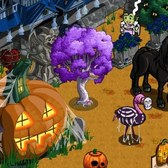 FarmVille Halloween Items: Nightmare Unicorn, Fire Peach Tree and more