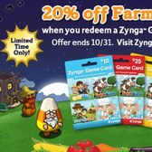 FarmVille: 20% off Farm Cash with Halloween Game Card promotion