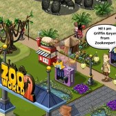 Kevin James visits the critters of Zoo World 2 in Zoo Keeper promotion