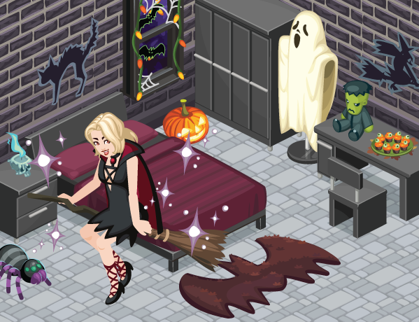 The Sims Social Witch's Broomstick