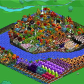 FarmVille Pic of the Day: Onisuka057's fall oasis goes Halloween
