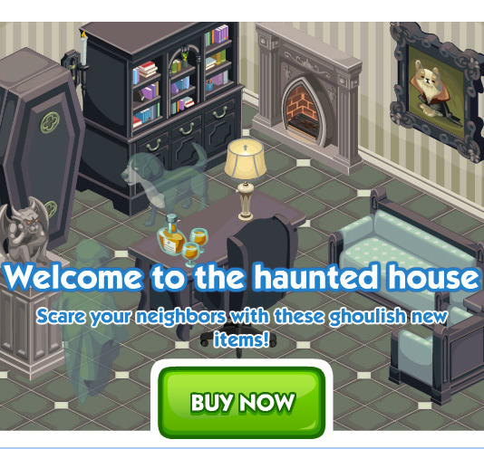 The Sims Social Haunted House Week
