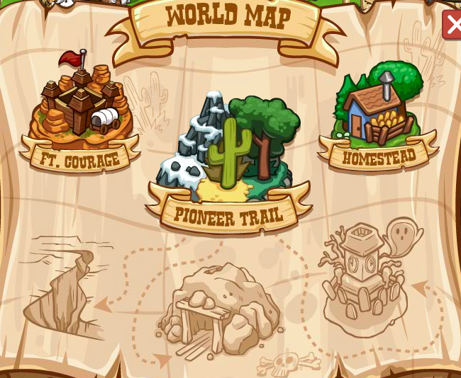 Pioneer Trail World Map