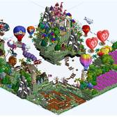 FarmVille Pic of the Day: Brazydin's farm is a Castle in the Sky