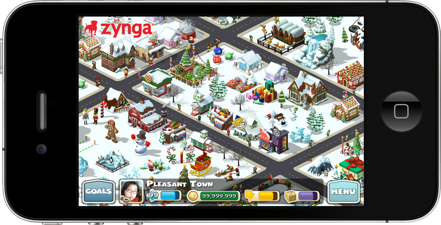 CityVille Holidaytown on iPhone