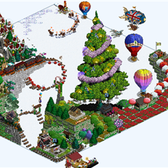 FarmVille Pic of the Day: Christmas takes to the sky on Brayzdin's farm
