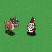 FarmVille Winter Holiday Items: Ornament Reindeer and Santa Gnome