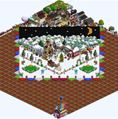 FarmVille Pic of the Day: Hieloiceberg's farm goes for the X'mas card look