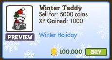 FarmVille Winter Teddy