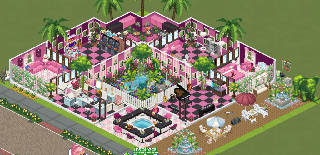 Make the ultimate the sims social party house for facebook fame and Create a house online game
