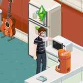 A Dunkin' Donuts coffee maker is <em>just now</em> hitting The Sims Social?