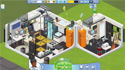 The Sims Social tiny hong kong apt