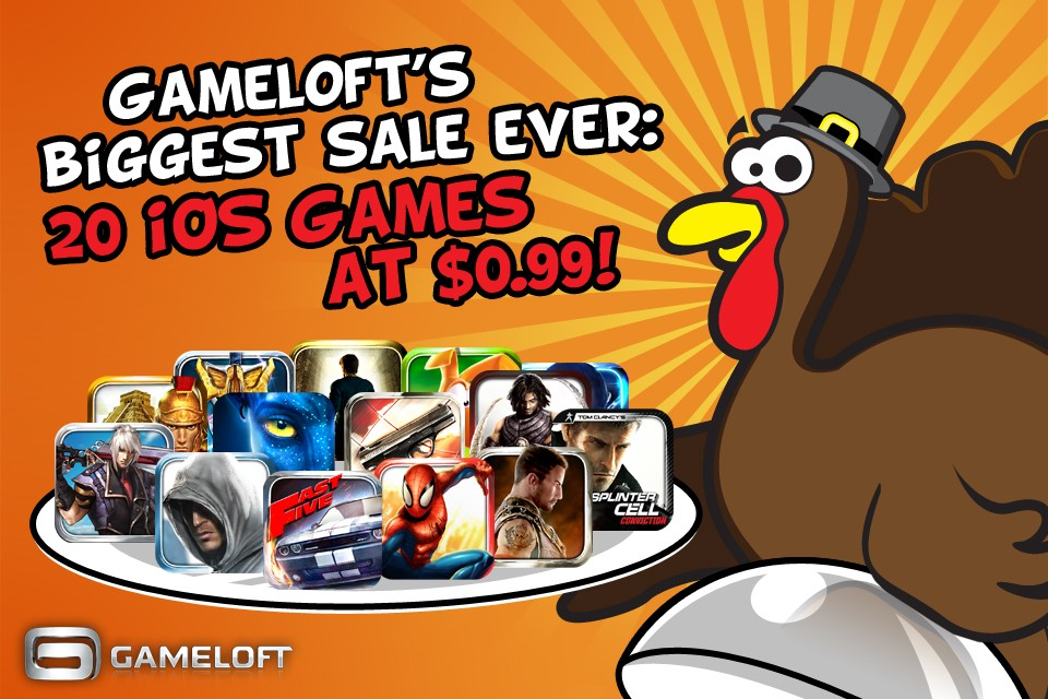 gameloft thanksgiving sale