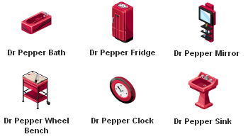 The Sims Social Dr Pepper items