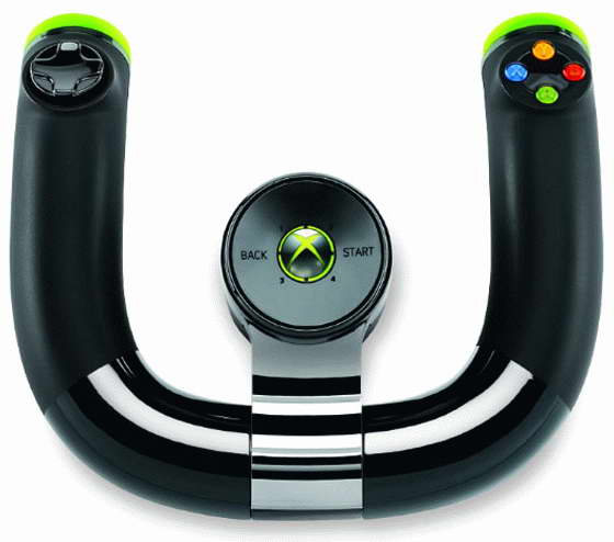 Xbox 360 steering wheel