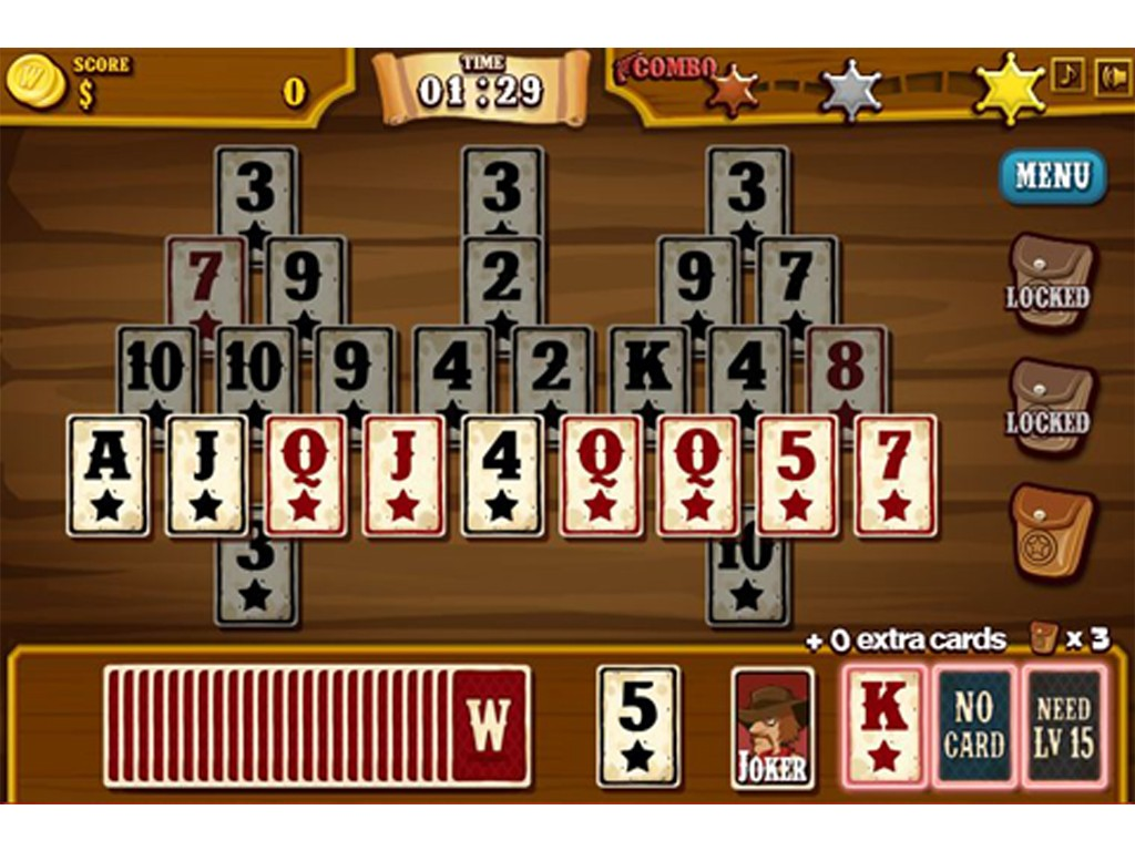 Wild West Solitaire in action