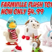 FarmVille Plush Ornaments on sale for $4.99 at Best Buy