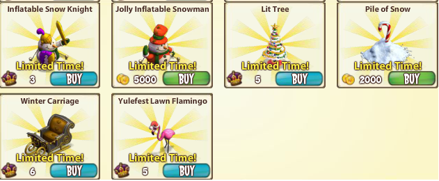 CastleVille Winter Items 3