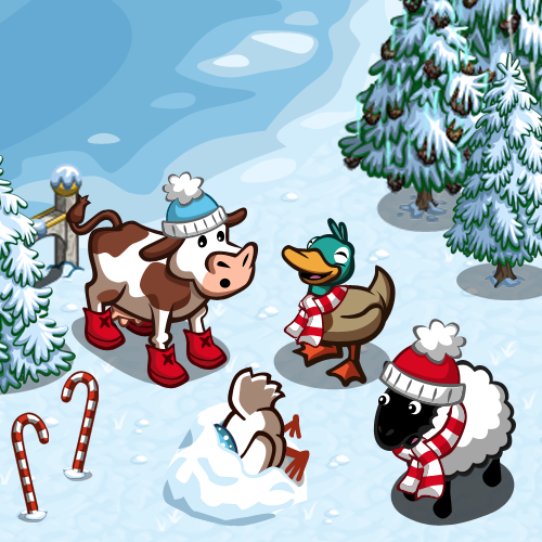 FarmVille Winter Wonderland Animals