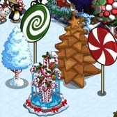 FarmVille Winter Holiday Items: Candy Cane Gnome, Gingerbread Tree