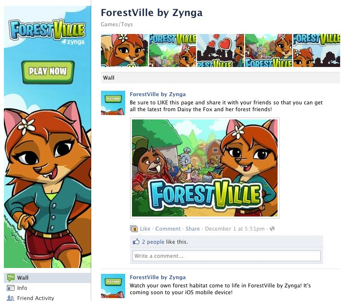 forestville zynga facebook fan page