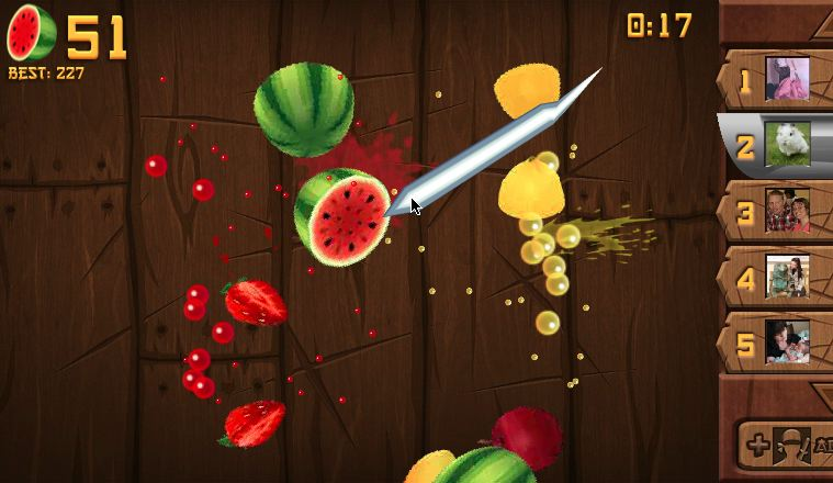 fruit ninja frenzy best facebook game 2011